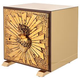 Tabernacle de table Sacré-Coeur coque dorée s3