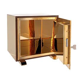 Tabernacle de table Sacré-Coeur coque dorée s5