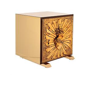 Tabernacle de table Sacré-Coeur coque dorée s7