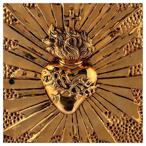 Tabernacle de table Sacré-Coeur coque dorée 2