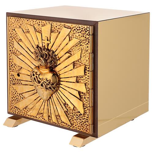 Tabernacle de table Sacré-Coeur coque dorée 3
