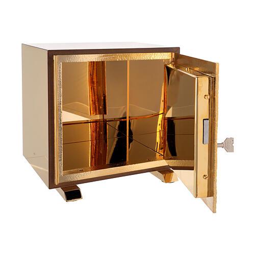 Tabernacle de table Sacré-Coeur coque dorée 5