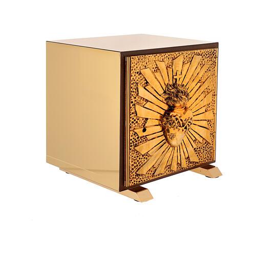 Tabernacle de table Sacré-Coeur coque dorée 7