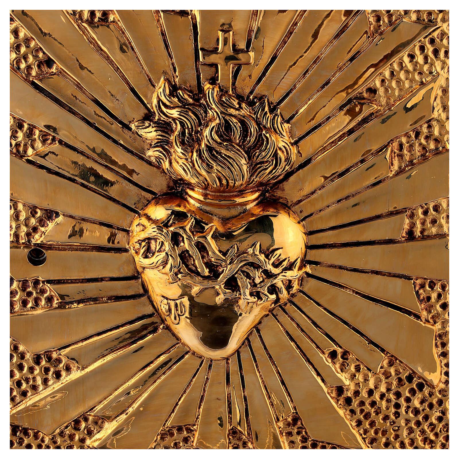 Tabernacolo mensa Sacro Cuore scocca dorata 4