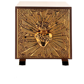 Altar tabernacle Sacred Heart gold plated shell s1