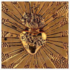 Altar tabernacle Sacred Heart gold plated shell s2
