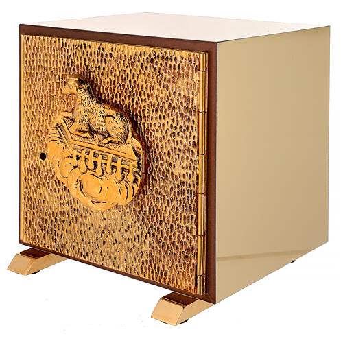 Tabernacolo da Altare esposizione Agnello scocca dorata 3