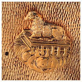 Sacrário de altar dourado com Cordeiro exposição Santíssimo Sacramento s2