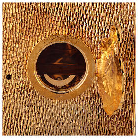 Sacrário de altar dourado com Cordeiro exposição Santíssimo Sacramento s4