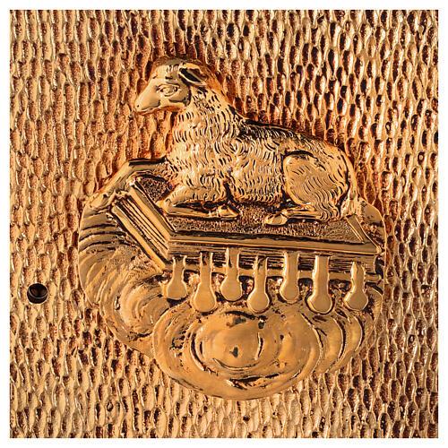 Sacrário de altar dourado com Cordeiro exposição Santíssimo Sacramento 2