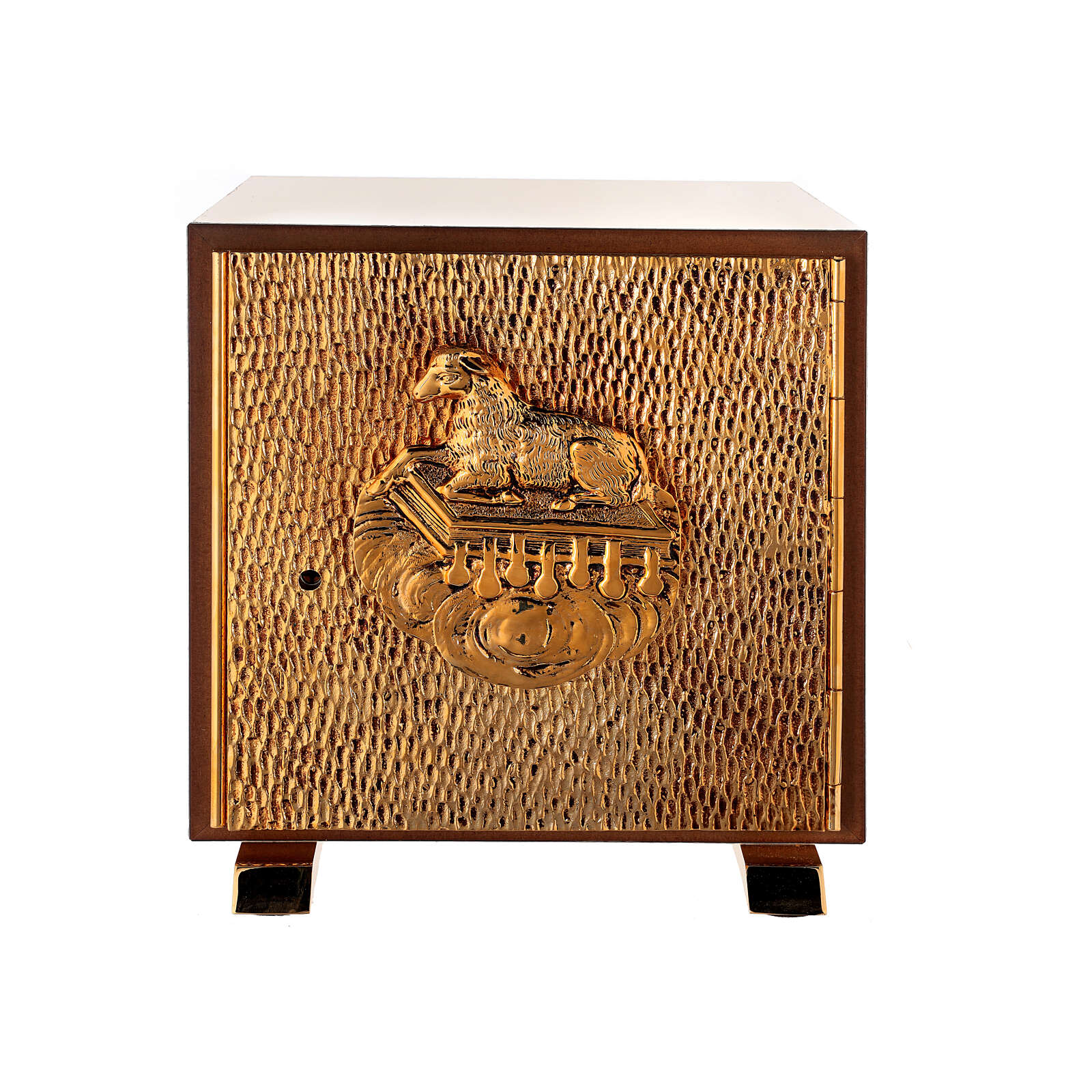 Altar tabernacle Lamb gold plated shell 4