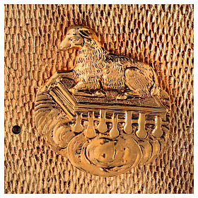 Altar tabernacle Lamb gold plated shell s2