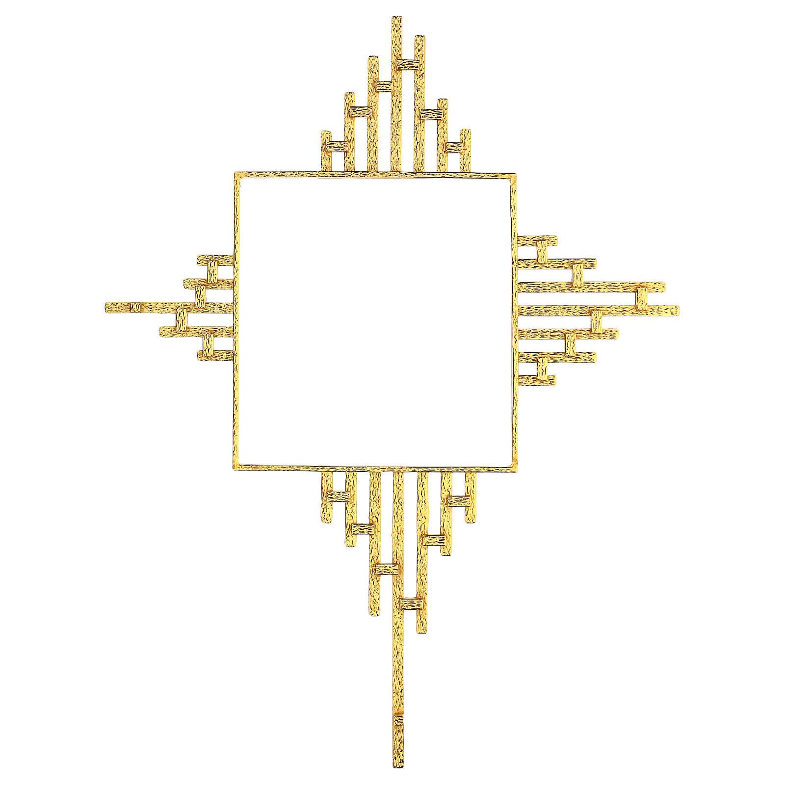 STOCK Corona de rayos latón dorado para sagrario 30x30 cm 4