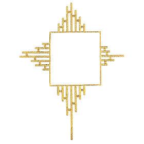 STOCK Corona de rayos latón dorado para sagrario 30x30 cm s1