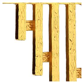 STOCK Corona de rayos latón dorado para sagrario 30x30 cm s3