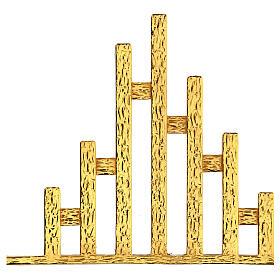 STOCK Corona de rayos latón dorado para sagrario 30x30 cm s4