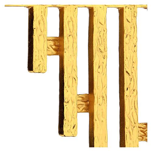 STOCK Corona de rayos latón dorado para sagrario 30x30 cm 3