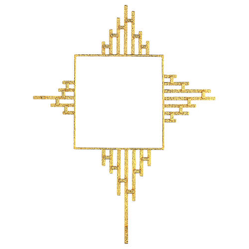 STOCK Corona de rayos latón dorado para sagrario 30x30 cm 6