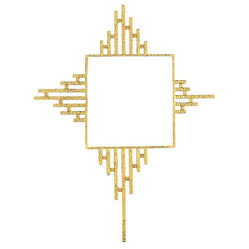 STOCK Raggiera ottone dorato per tabernacolo 30x30 cm 1