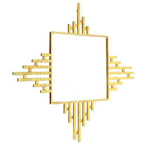 STOCK Raggiera ottone dorato per tabernacolo 30x30 cm 2