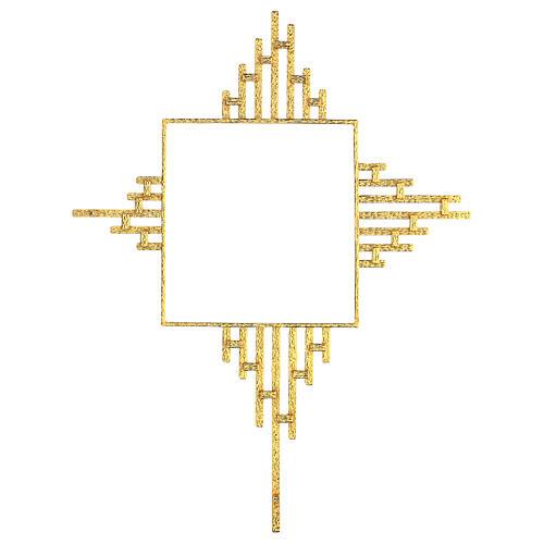 STOCK Raggiera ottone dorato per tabernacolo 30x30 cm 6