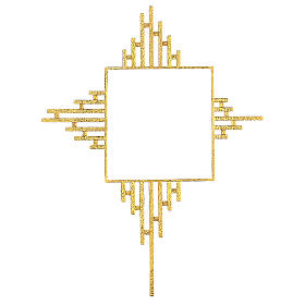 STOCK Gold plated rays for tabernacle 12x12 in s1