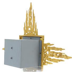 Tabernacolo da muro ottone con raggiera 90x90 cm e porta bicolore s11