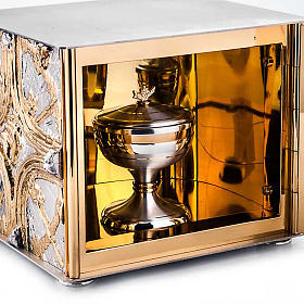 Tabernacle de table , croix dorée s4