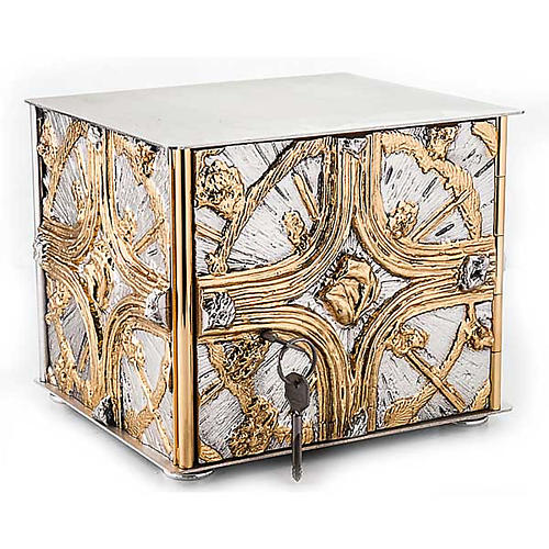 Tabernacle de table , croix dorée 1