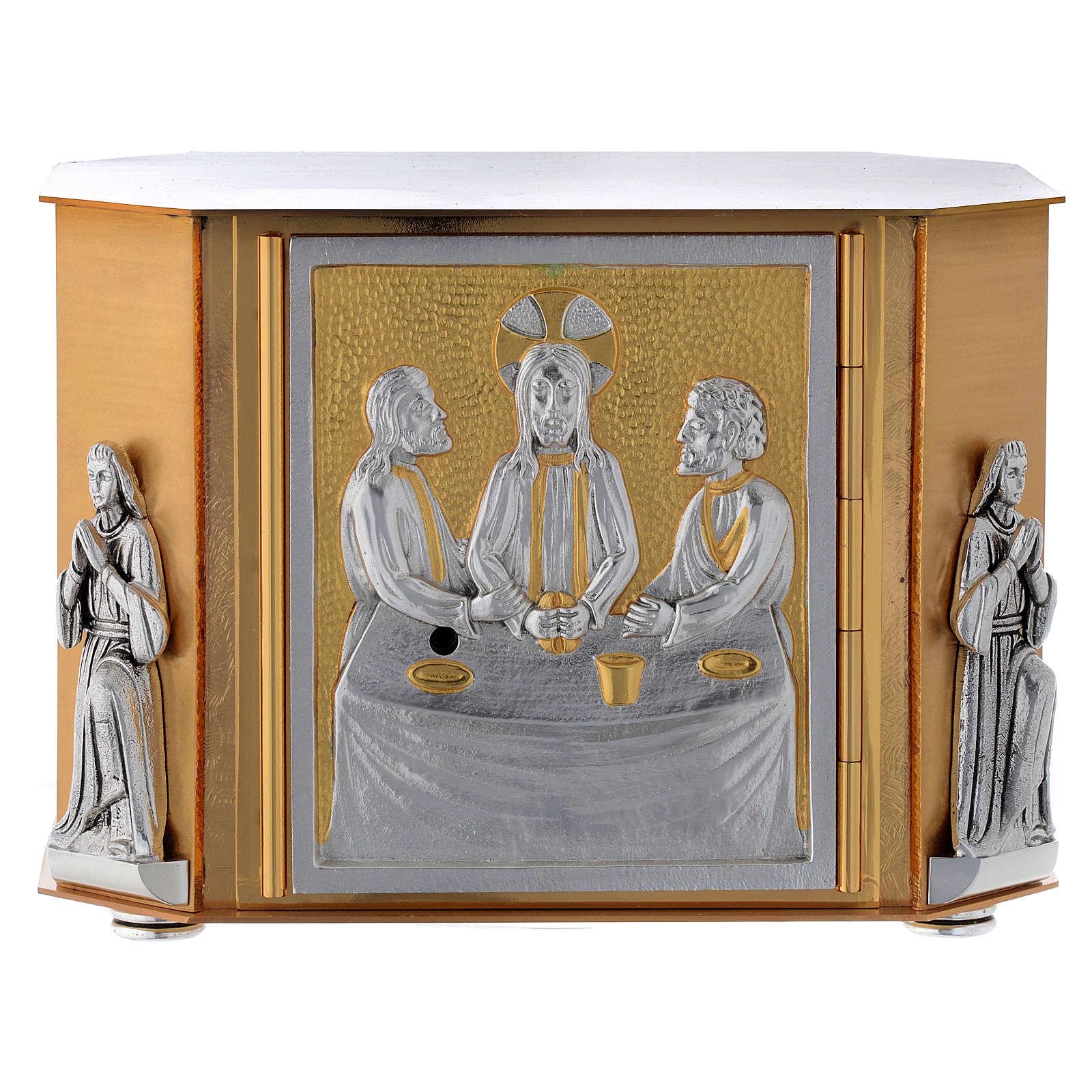 Sagrario de mesa última cena dorado 4