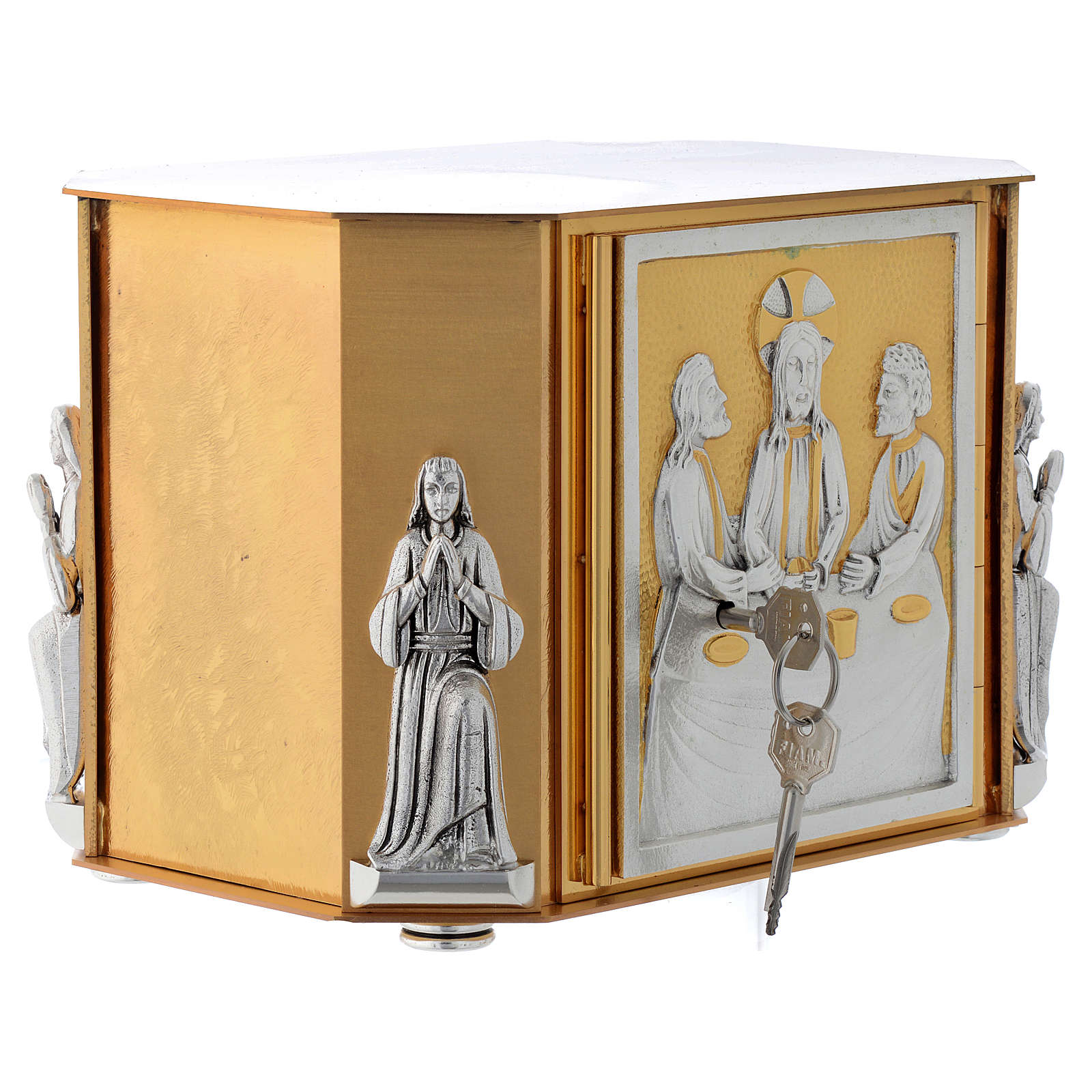Altar tabernacle, gold Last Supper 4