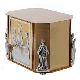 Altar tabernacle, gold Last Supper s7