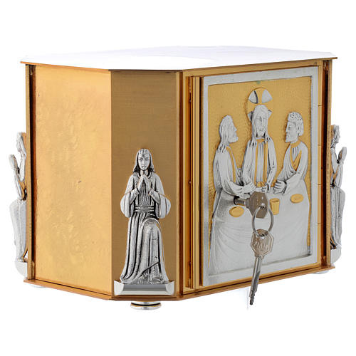 Altar tabernacle, gold Last Supper 5