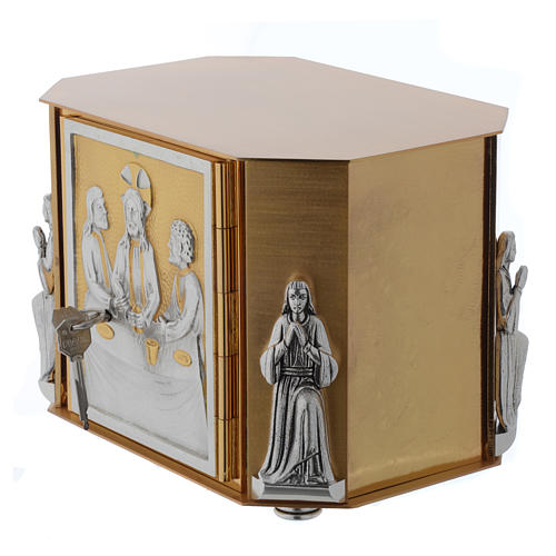 Altar tabernacle, gold Last Supper 7