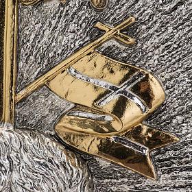 Tabernacolo da mensa ottone bicolore Agnello Immolato s12