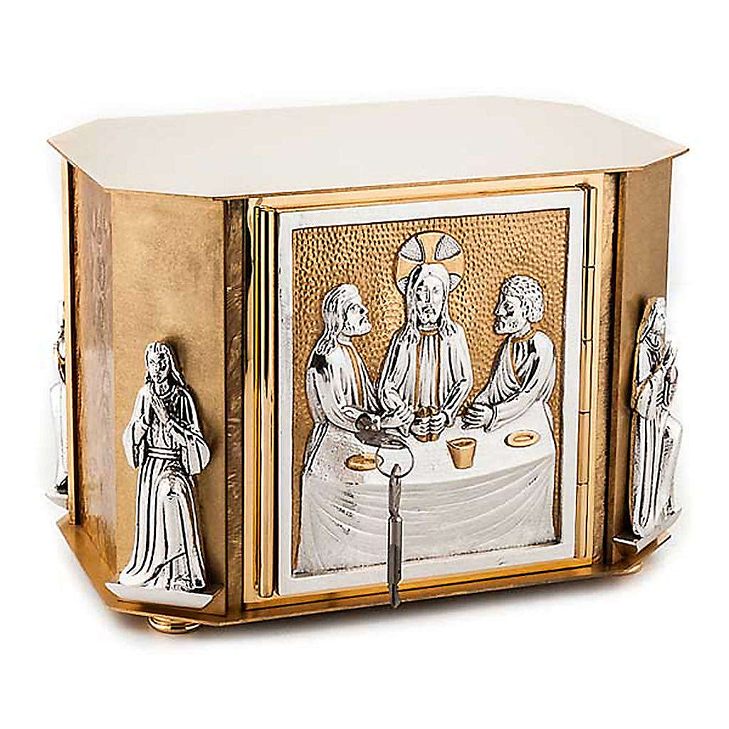 Altar tabernacle with the last supper in bronze 4
