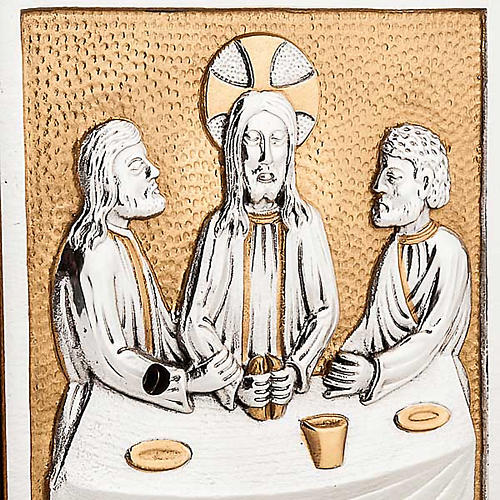Altar tabernacle with the last supper in bronze 2