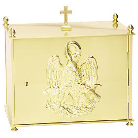 Altar tabernacle in brass plates with Pelican, Molina s1