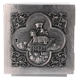 Tabernacles: Altar Tabernacle in brass with Lamb of God image, Molina