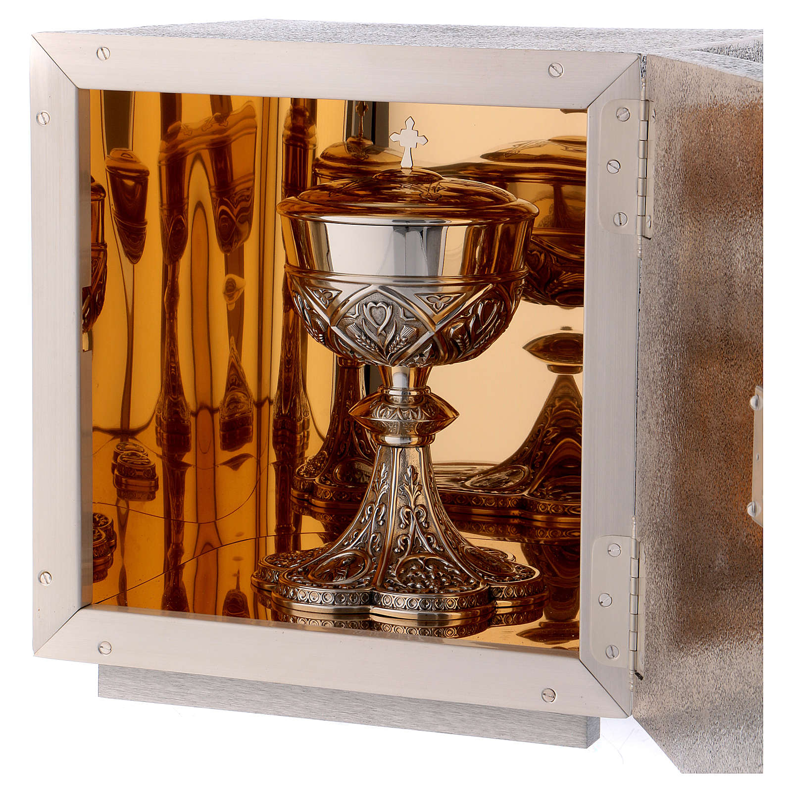 Altar Tabernacle in brass with Lamb of God image, Molina 4