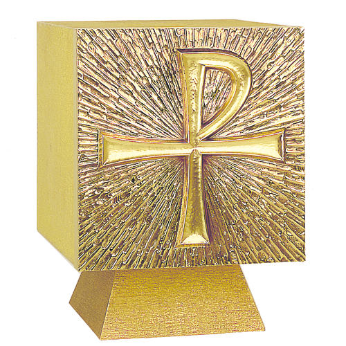 Altar Tabernacle In Brass With Chi Rho Symbol Molina Online Sales