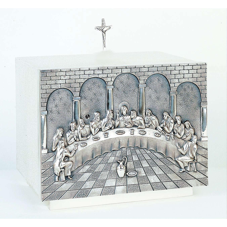 Tabernacolo Molina ornamentale Ultima Cena ottone 4