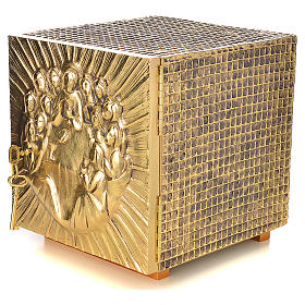 Altar Tabernacle in brass and resin with the last supper, Molina s2