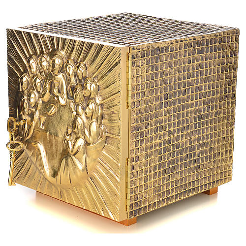 Altar Tabernacle in brass and resin with the last supper, Molina 2