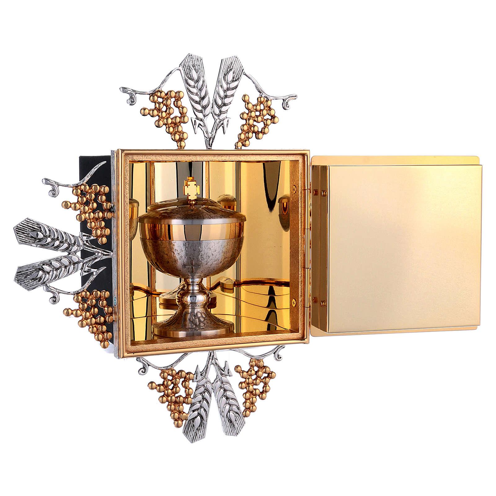 Tabernacle laiton fondu doré eucharistie 4