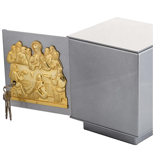 Altar Tabernacle with Last Supper in bronze, iron and brass 5