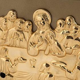 Sagrario de mesa Última Cena bronce dorado caja hierro s2