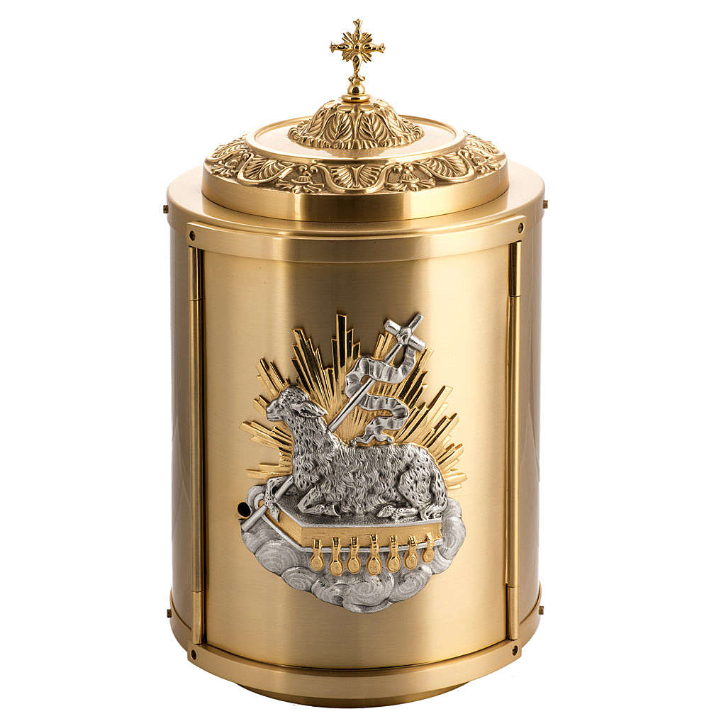 Tabernacle d'autel en laiton Agnus Dei 4