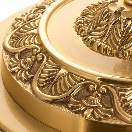 Tabernacolo da mensa ottone Agnello Immolato in bronzo 5