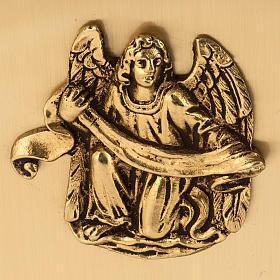 Tabernacolo da mensa in ottone simboli Evangelisti s4